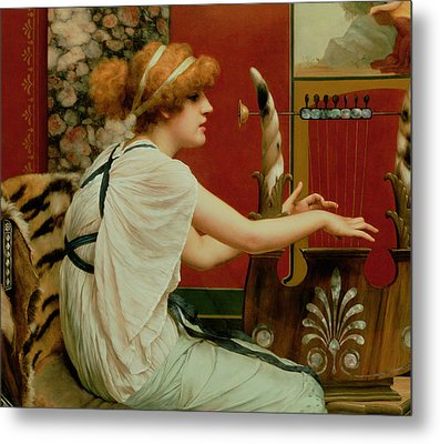 Music Metal Print by John William Godward