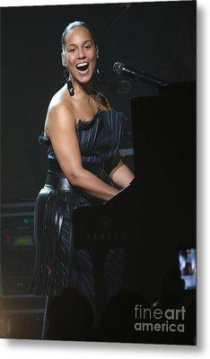 Musician Alicia Keys Metal Print by Concert Photos