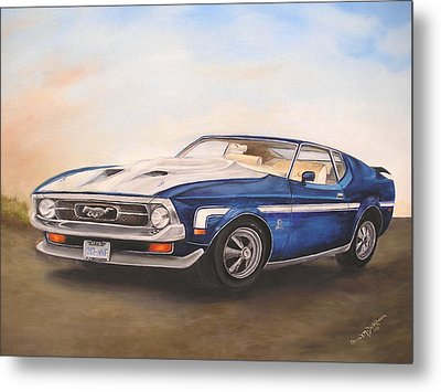 Metal Print featuring the painting Mustang by Anna-Maria Dickinson
