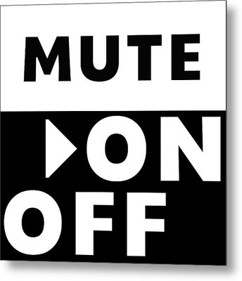 Mute On Off- Art By Linda Woods Metal Print