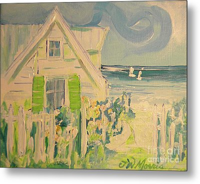 My Beach Cottage At Siesta Key Metal Print