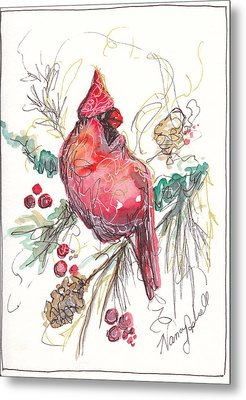 My Favorite Cardinal Metal Print by Michele Hollister - for Nancy Asbell