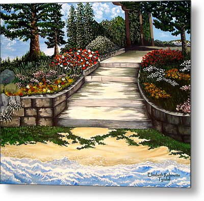 Metal Print featuring the painting My First Masterpiece by Elizabeth Robinette Tyndall