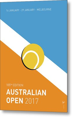 My Grand Slam 01 Australian Open 2017 Minimal Poster Metal Print by Chungkong Art