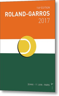 My Grand Slam 02 Rolandgarros 2017 Minimal Poster Metal Print by Chungkong Art