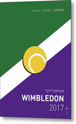 My Grand Slam 03 Wimbeldon Open 2017 Minimal Poster Metal Print by Chungkong Art