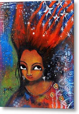 My Hair Is Being Pulled By The Stars  Metal Print by Prerna Poojara