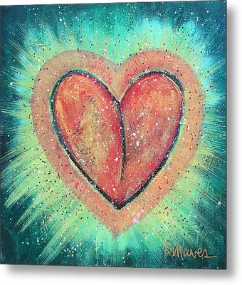 Metal Print featuring the painting My Heart Loves You by Laurie Maves ART