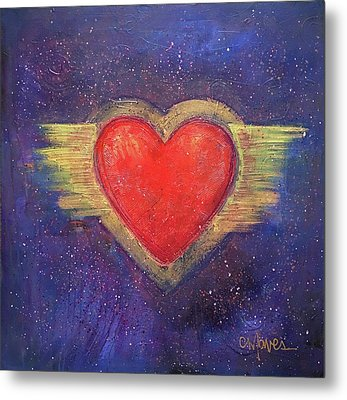 My Heart My Strength Metal Print by Laurie Maves ART