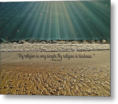 Metal Print featuring the mixed media My Religion by Trish Tritz