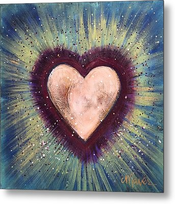 Metal Print featuring the painting My Royal Heart by Laurie Maves ART