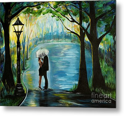 Metal Print featuring the painting My Soulmate by Leslie Allen