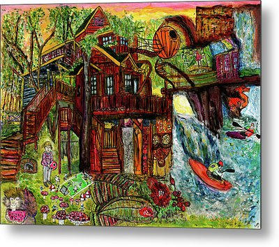 My Treehouse Paradise  Metal Print