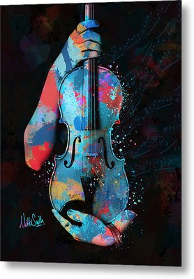 My Violin Whispers Music In The Night Metal Print