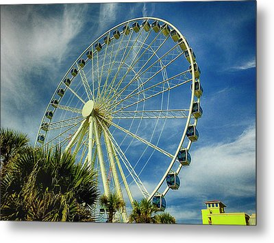 Metal Print featuring the photograph Myrtle Beach Skywheel by Bill Barber