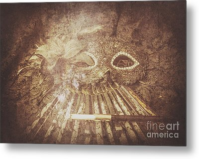 Mysterious Vintage Masquerade Metal Print by Jorgo Photography - Wall Art Gallery