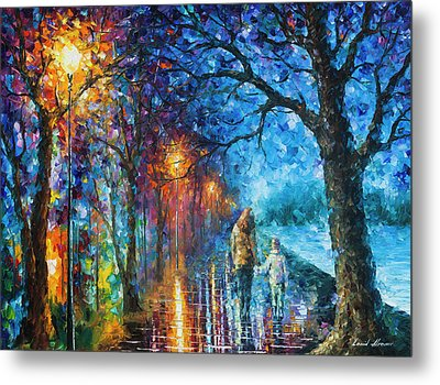 Mystery Of The Night Metal Print by Leonid Afremov