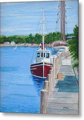 Mystic Dock Metal Print by Anthony Ross