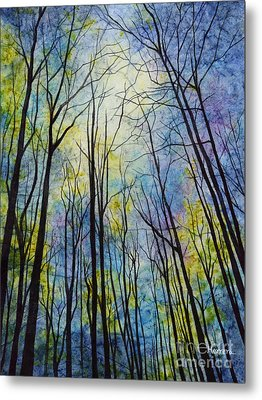 Metal Print featuring the painting Mystic Forest by Hailey E Herrera