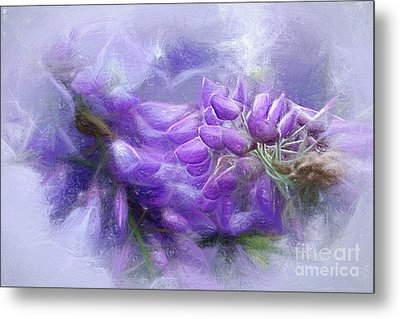 Metal Print featuring the photograph Mystical Wisteria By Kaye Menner by Kaye Menner