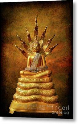 Naga Buddha Metal Print by Adrian Evans