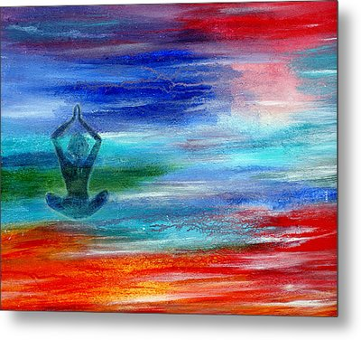 Namaste Metal Print by The Art With A Heart By Charlotte Phillips