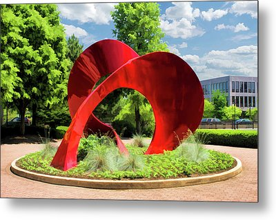 Metal Print featuring the painting Naperville Landforms Sculpture by Christopher Arndt