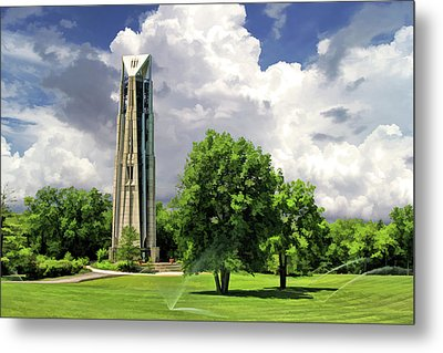 Metal Print featuring the painting Naperville Millennium Carillon by Christopher Arndt
