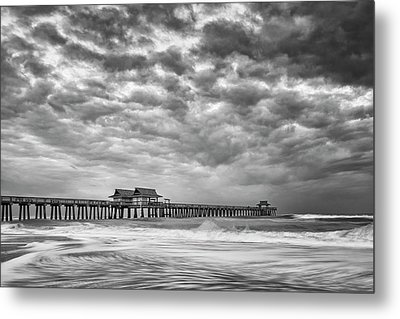 Metal Print featuring the photograph Naples Monochrome by Mike Lang