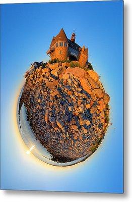 Narraganset Towers 2- Planet Metal Print by Christopher Blake