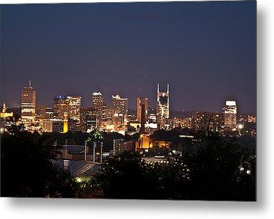 Nashville Cityscape 1 Metal Print by Douglas Barnett