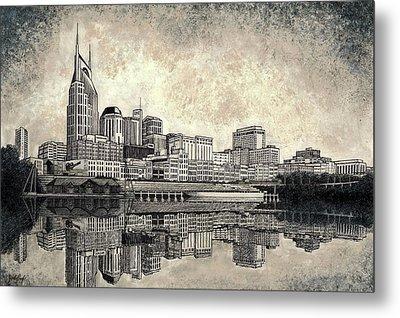 Nashville Skyline II Metal Print by Janet King