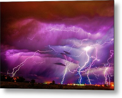 Nasty But Awesome Late Night Lightning 008 Metal Print