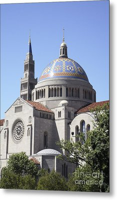 National Shrine Of The Immaculate Conception Metal Print by William Kuta