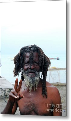 Metal Print featuring the photograph Native Man by Gary Wonning