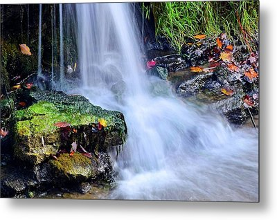 Natural Flowing Water Metal Print by Frozen in Time Fine Art Photography
