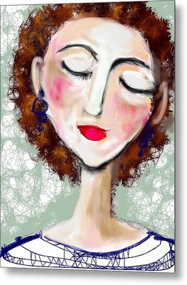 Metal Print featuring the digital art Natural Redhead by Elaine Lanoue