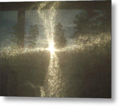 Natural Sun Cross Metal Print by Robin Coaker