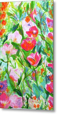 Metal Print featuring the painting Nature Dance by Beth Saffer