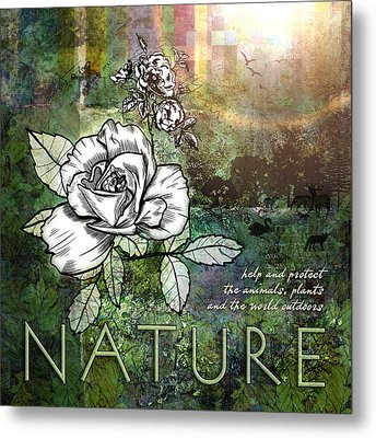 Nature Metal Print by Evie Cook