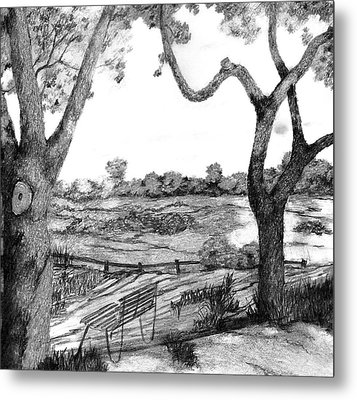Nature Sketch Metal Print