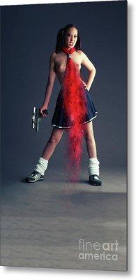 Naughty Schoolgirl Metal Print