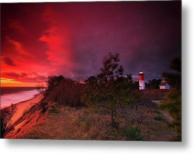 Nauset Lighthouse Sunrise Metal Print by Dapixara Art