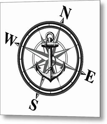 Nautica Bw Metal Print