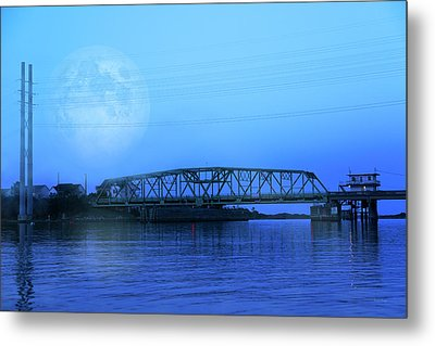 Nautical Night Metal Print by Betsy Knapp