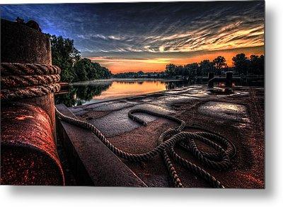 Nautical Sunrise Metal Print by Everet Regal