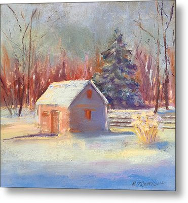 Nauvoo Winter Scene Metal Print