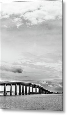 Metal Print featuring the photograph Navarre Bridge Monochrome by Shelby Young