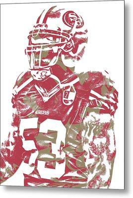 Navorro Bowman San Francisco 49ers Pixel Art 1 Metal Print