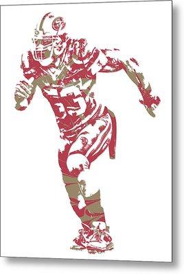 Navorro Bowman San Francisco 49ers Pixel Art 2 Metal Print